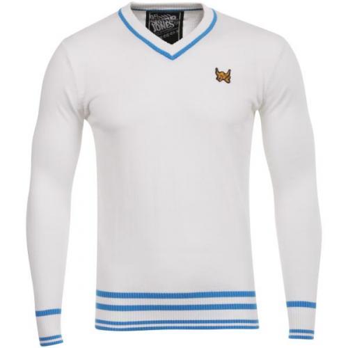 Mens Smith & Jones Laquan V-neck Knit - White - Now £6.99 @ The Hut