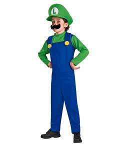 Super Mario Bros Luigi Dress Up Costume - Now £12.49 @ Argos