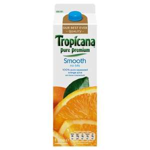 Tropicana juice 1 litre all varieties for £1.50 @ Tesco + clubcard points