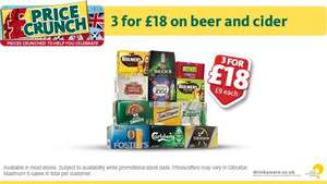 Morrisons beer deal is back any 3 packs of 12 for £18 from Monday @ Morrisons