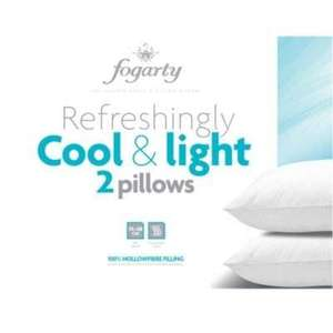 Fogarty Cool & Light Pair of Pillows - was £30 now £4.45 (with code) @ Debenhams
