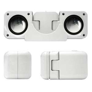 Portable Folding Speakers for iPods & MP3 Players (White) - £2.93 @ Amazon Sold by Star e-Shop