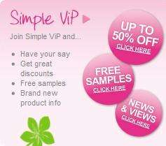 Free Simple Wipes Sample Pack