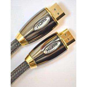 2 Meter Pro Gold Red (1.4a Version, 3D) HDMI to HDMI Cable with Ethernet, Compatible with 1.4,1.3c,1.3b,1.3,1080P,PS3, Xbox 360, Sky HD, Freesat, Virgin Box, Full HD LCD, Plasma & LED TV's Also Supports 3D TVS (2m/6.4ft) - £12.99 @ Amazon Sold By HD