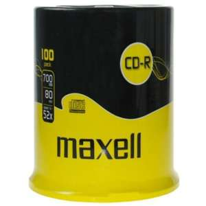 Maxell Blank CD-R 52x / 100 Pack - £8.99 Delivered @ Play