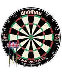 Winmau Diamond Bristle Dartboard and Brass Darts - £13.32 @ Argos