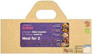 Sainsburys Indian Meals for 2 reduced from £6.99 to £5 (1.7Kg)