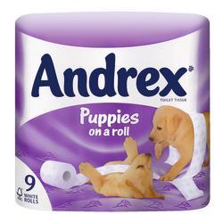 Andrex 9 roll toilet tissue - 2 packs for 6.99 @ Co-op