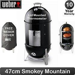 Weber Smokey Mountain Smoker 47cm Free Cover Free Delivery