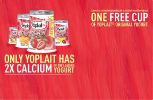 Free Cup of Yoplait Original Yogurt @ Yoplait