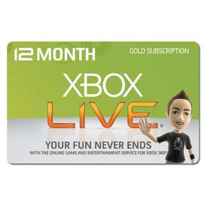 Xbox Live 12 Months Gold Subscription - £29.99 @ Morrisons