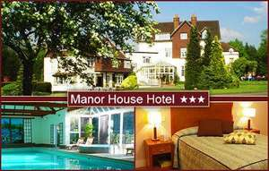 £89 for two people to enjoy two nights at Manor House Hotel & Spa in Surrey worth up to £223 - includes breakfast, use of the spa, a box of chocolates and more @ KGB Deals