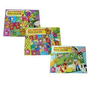 My Numbers / My Alphabet / My Farmyard Giant Floor Puzzles - Now £5.99 delivered @ Readers Digest