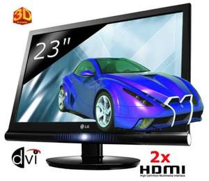 """LG W2363D - 23"""" 3D LCD Monitor HDMI - 3D - 3 ms - 16:9 - 1920 x 1080 - £169.99 Delivered @ eBay Buy United Kingdom Outlet"""