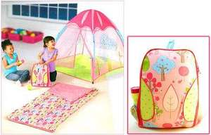 Cute Childrens Tent, Sleeping Bag, Backpack & Torch Bundle (Pink)  now £14.99 delivered at theentertainertoyshop / Ebay