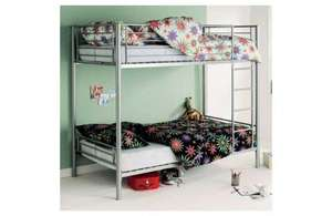 Metal Bunk Bed with Sprung Mattress -Silver down from £238.94 to £170.42 delivered @ Argos +£10 voucher