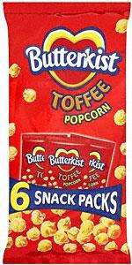 Butterkist Toffee Popcorn - 6 x 30g - 99p at Lidl