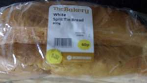 Morrisons White Split Tin Loaf 800g 60p Instore