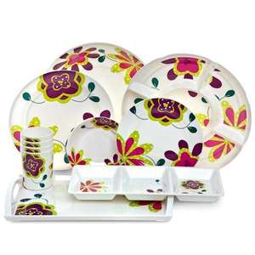 patterned picnicware range @ poundland