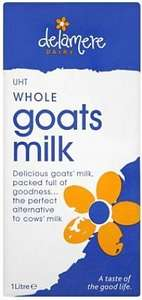 Goats Milk UHT - 3 one litre packs for £1 (+P&P) @ Approved Food