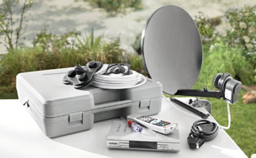 Portable FTA Digital Satellite TV Receiver System in a case (240v/12v) - Only £29.99 Starts 2nd May @ Lidl