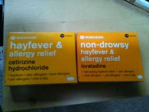 Hayfever & Allergy Relief - 28 Tablets for £1.50 @ Morrisons (Cetirizine Hydrochloride & Loratadine)