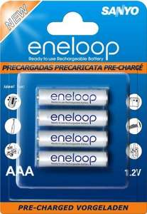 Pack of 4 Sanyo Eneloop AAA rechargeable batteries only £2 @ Asda