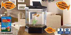 Aquarium - 15L Fish tank - no fish £19.99 @ ALDI