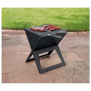Notebook portable  barbecue - folds flat ! £13.33 at Tesco.