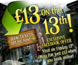 £13 Entry to Alton Towers on Friday 13th May - Free Delivery @ Facebook