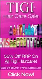 50% off TIGI incl BedHead, S-Factor, Catwalk and More @ Cheap Smells