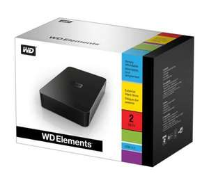 Western Digital Elements 2TB External Hard Drive - £64.99 delivered @ Dixons (3% TopCashBack)