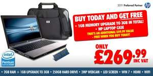HP 620 Pentium Dual Core, 3GB RAM, Win 7, HDMI + Case - £269.99 @ eBay Oyyy Outlet