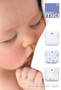 up to 50% off nappies and accessories (Bambino Mio & Onelife)
