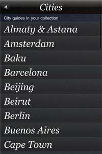 h2g - A Hedonists Guide to 41 International Cities iPhone App - £9.99 @ iTunes