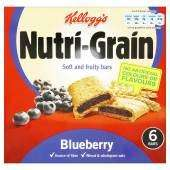 Pack of 6 Nutrigrain Blueberry or Apple & Blackberry for £1 at Asda