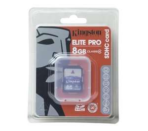 Kingston SDHC Memory Card - 8GB Class 4 - £6.99 Delivered @ Currys