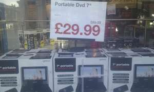 """7"""" Portable DVD Player - was £69.99 now £29.99 and Other Bargains Instore @ Clas Olson"""