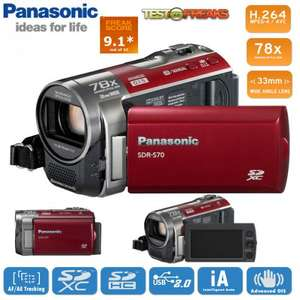 Panasonic compact SD camcorder with 78x enhanced optical zoom and 33mm wide angle lens- 2 Years Warranty - £127.90 Delivered @ iBood