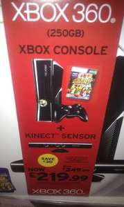 Xbox 360 Console: 250GB with Kinect and Kinect Adventures - £219.99 @ Sainsburys (Instore)