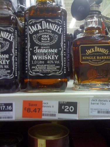 Jack Daniels 1 litre £20 @ Sainsburys instore
