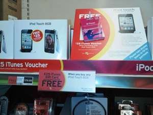 iPod Touch 8GB 4g - £179.99 with £25 iTunes Voucher @ Sainsburys (Instore)