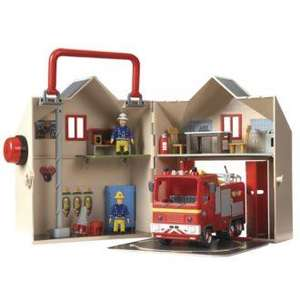 Fireman Sam Deluxe Fire Station Playset - Half Price - £14.99 @ Sainsburys
