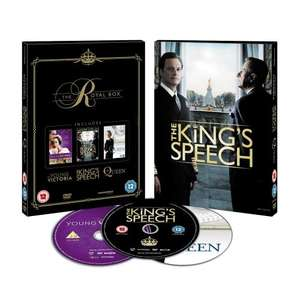 The Royal Box: The King's Speech / The Queen / Young Victoria (DVD) - £11.87 Delivered (using code) @ Tesco Entertainment + 8% Quidco