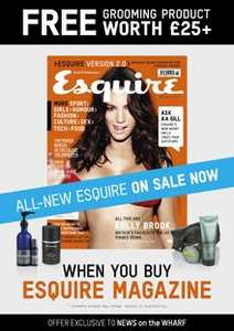 Up to £40 of Luxury Mens Cosmetics and a magazine for £4.25 in Canary Wharf