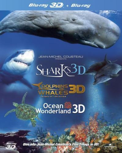 Jean-Michel Cousteau's Film Trilogy in 3D (Dolphins & Whales / Sharks / Ocean Wonderland) (Blu-ray Box Set) - £17.85 Delivered @ Zavvi