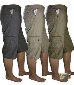 Mens Over The Knee Cargo Shorts - £9.94 @ eBay Total Trading Outlet