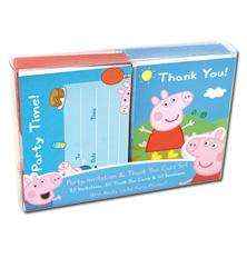 20 Peppa Pig Invitations & Thank You Cards £3.00 Delivered @ TheBookPeople