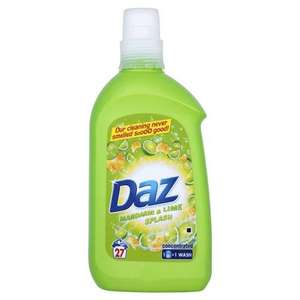 Daz Mandarin and Lime Splash Laundry Detergent Liquid 27 Washes (Pack of 6) £12.69 @ Amazon