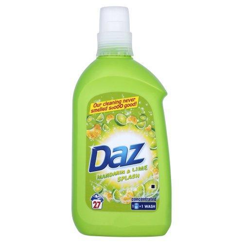 Daz Mandarin and Lime Splash Laundry Detergent Liquid 27 Washes (Pack of 6) £12.69 @ Amazon
